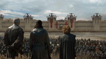 Jon Snow, Tyrion Lannister y Davos Seaworth en 'Juego de Tronos'