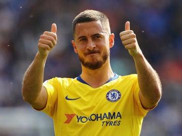 Eden Hazard, en su partido ante el Leicester
