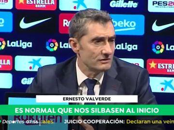"""Ernesto Valverde: """"Cuando tienes un batacazo o una mala noticia acusas el golpe"""""""