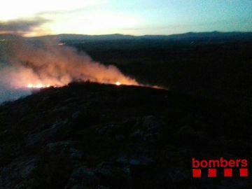 Estabilizado el incendio del municipio tarraconense de Montferri