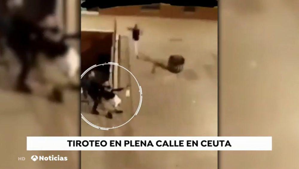 Momentos de tensión en un tiroteo en plena calle en Ceuta