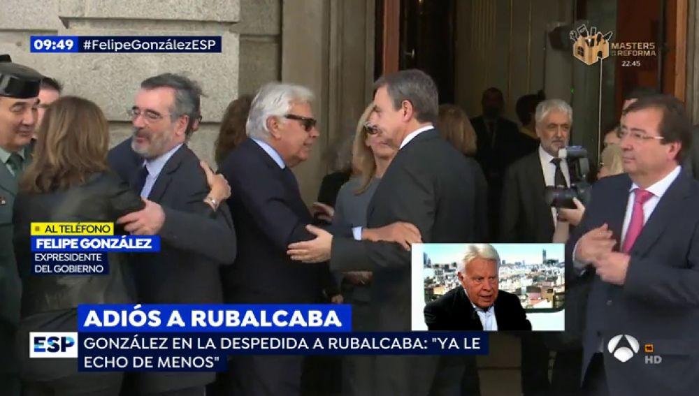 La Emoción De Felipe González Al Hablar De Rubalcaba Ya Le Echo De Menos