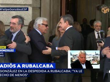 Felipe González despide a Rubalcaba