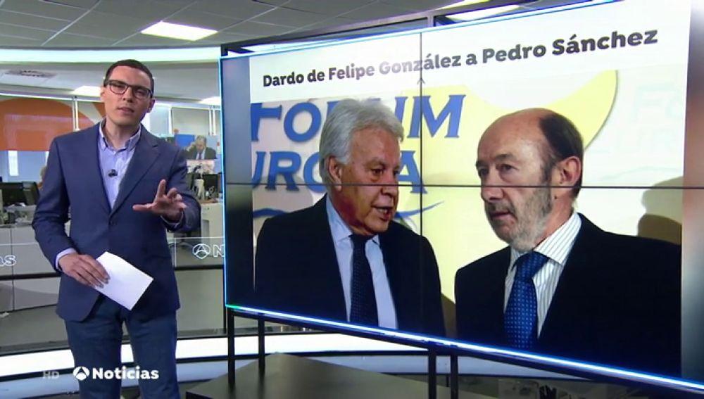 """Felipe González lanza un dardo a Pedro Sánchez y pide a """"los apartados"""" que se integren en las listas"""