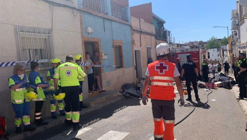 Derrumbe en una vivienda de Badajoz