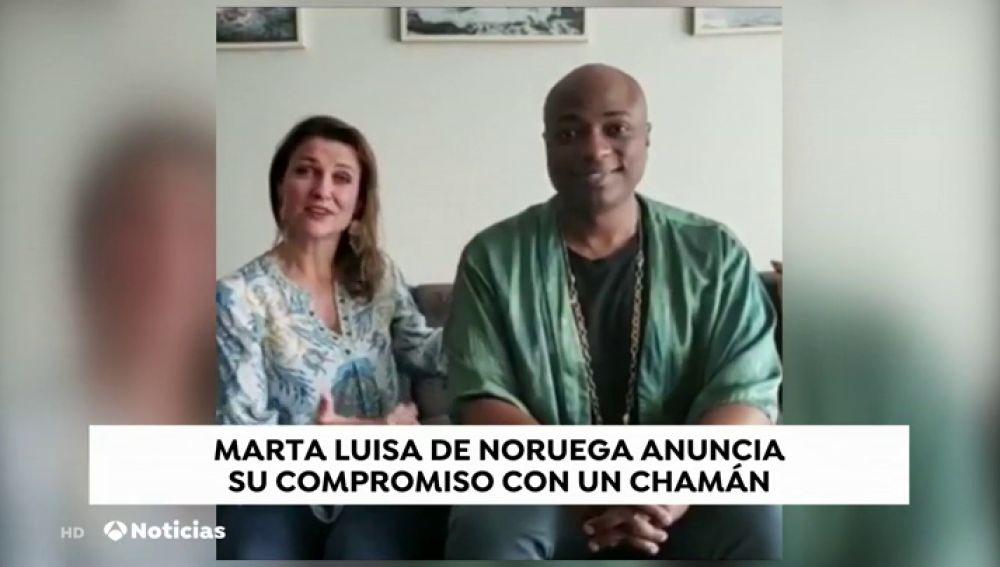 La princesa Marta Luisa de Noruega anuncia su noviazgo con un chamán