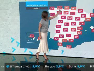 Cielos despejados y altas temperaturas en todo el país