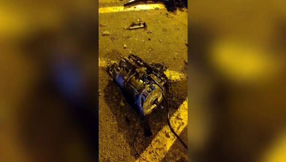Brutal accidente en Valencia