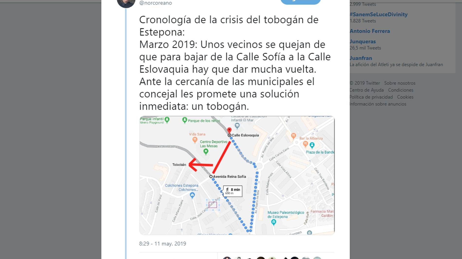 Cronología de la crisis del tobogán