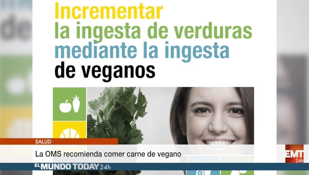 La Organización Mundial de la Salud recomienda comer carne de vegano