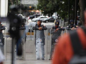 Funcionarios del SEBIN ante el Parlamento venezolano