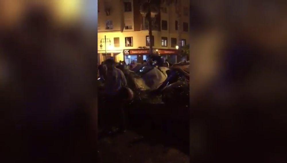 Herido de gravedad un hombre en un brutal accidente en Valencia