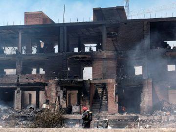Edificio incendiado en Ibiza