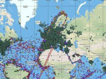 Mapa tiempo real vuelos