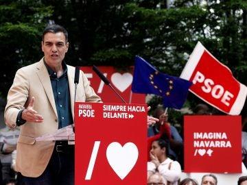 Acto político de Pedro Sánchez en Pamplona