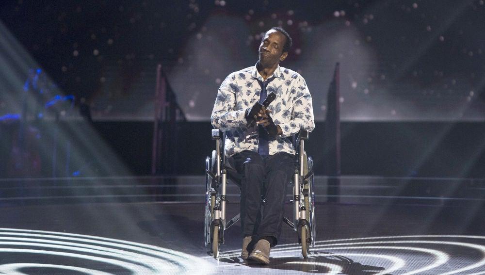 Charles Rolle canta 'Purple rain' en las Audiciones a ciegas de 'La Voz Senior'
