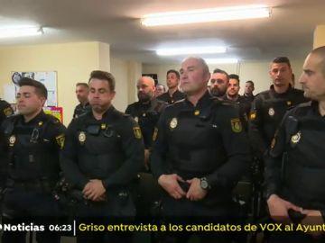 Despliegue policial en Madrid
