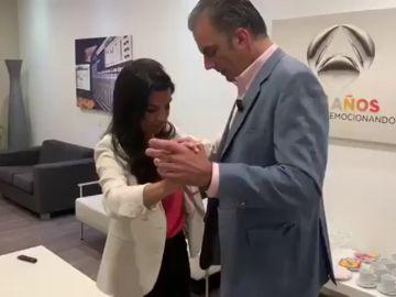 Rocío Monasterio y Ortega Smith ensayan un chotis