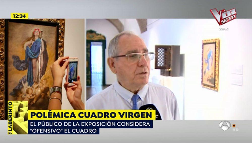 Polémica por el cuadro de la virgen.