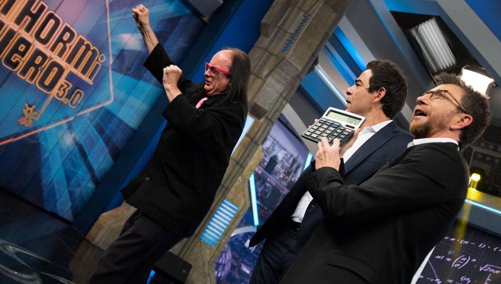 Pablo Chiapella, fascinado con la calculadora humana de 'El Hormiguero 3.0'
