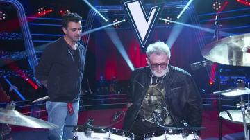 """Toni Mateos, el batería de 'La Voz Senior': """"Marcelo Gómez tiene un don porque tocar y cantar a la vez es muy difícil"""""""