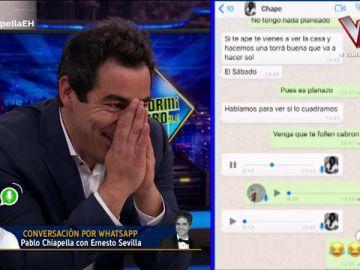La conversación por WhatsApp de Pablo Chiapella con Ernesto Sevilla