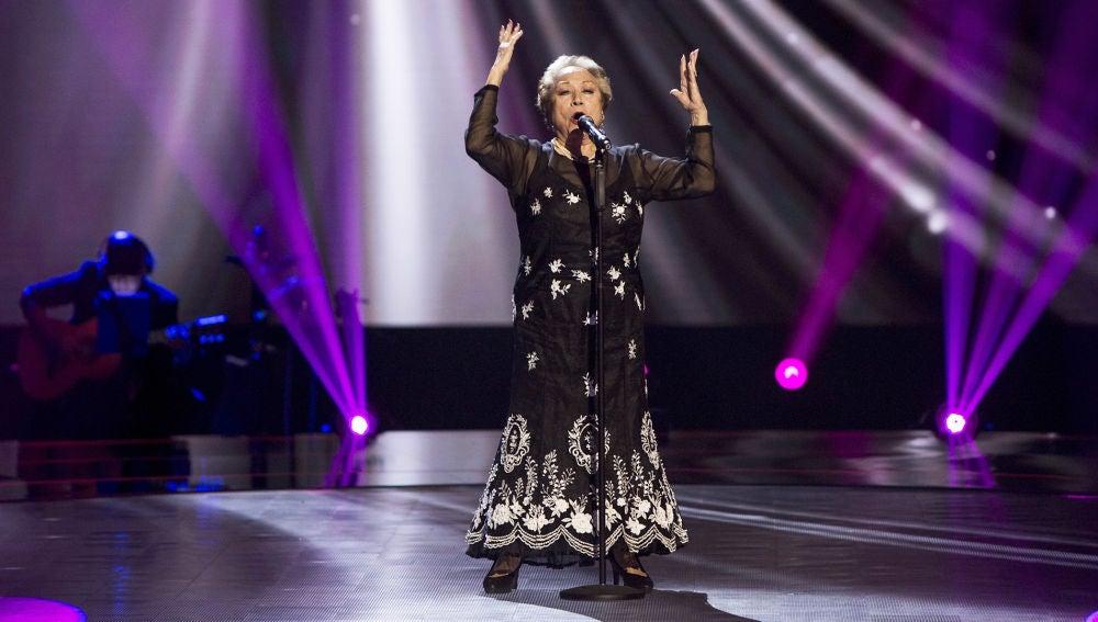 Maruja Garrido canta 'El bardo' en las Audiciones a ciegas de 'La Voz Senior'