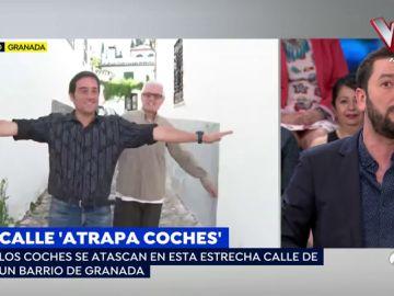 Calle atrapacoches en Málaga