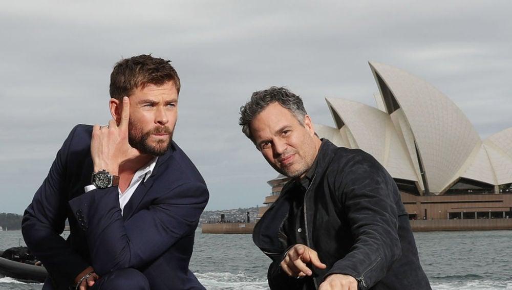 Chris Hemsworth y Mark Ruffalo