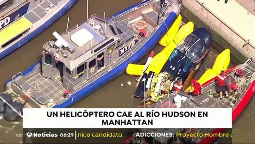 Espectacular rescate en el río Hudson
