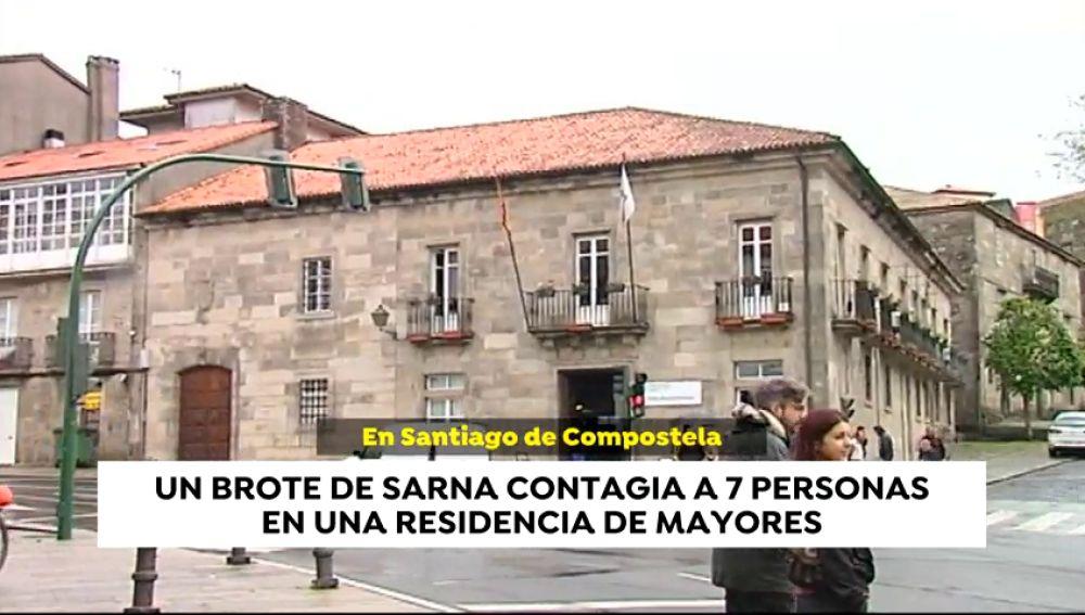 Siete personas contagiadas por un brote de sarna en una residencia de mayores en Santiago