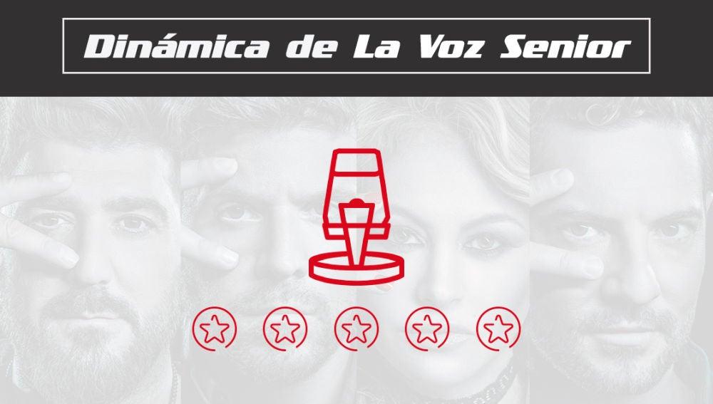 Descubre las fases de la dinámica de programa de 'La Voz Senior'