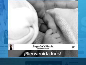 Villacís ha dado a luz a su tercera hija