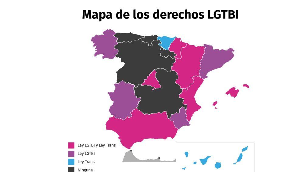 Mapa de los derechos LGTBI