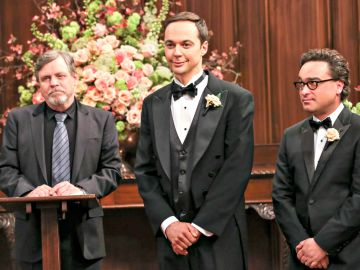 Mark Hamill, Jim Parsons y Johnny Galecki en 'The Big Bang Theory'