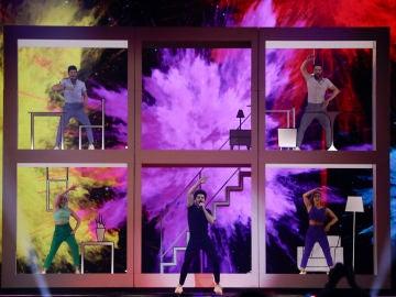Miki en Eurovisión 2019 cantando 'La Venda'