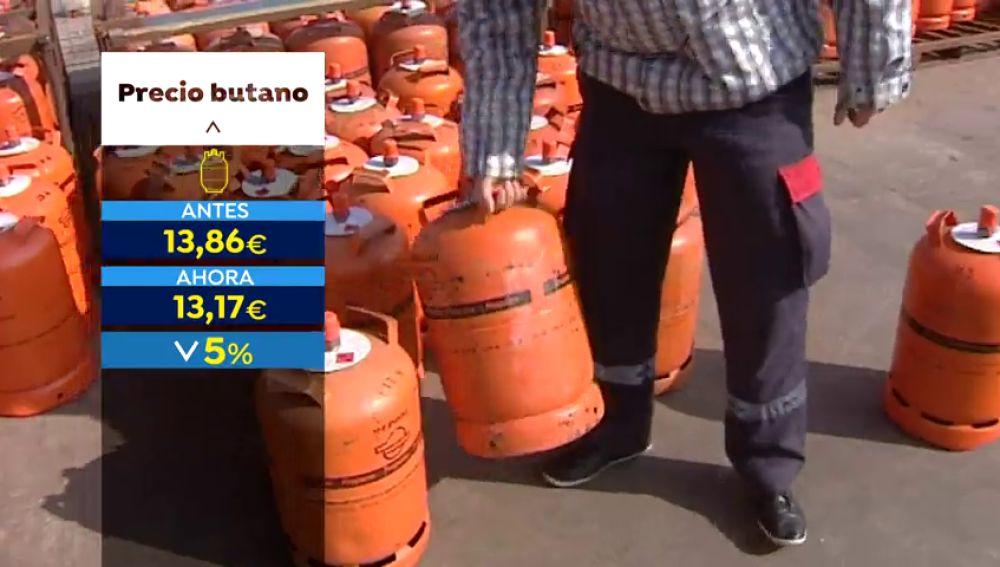 La bombona de butano baja a partir del martes un 4,98%