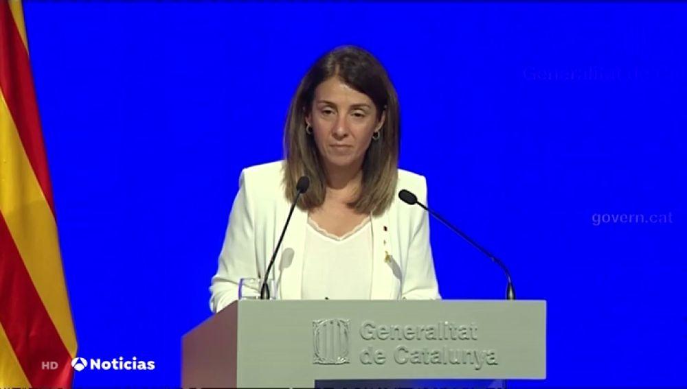La respuesta del Govern a una periodista de Antena 3 Noticias sobre los resultados del independentismo