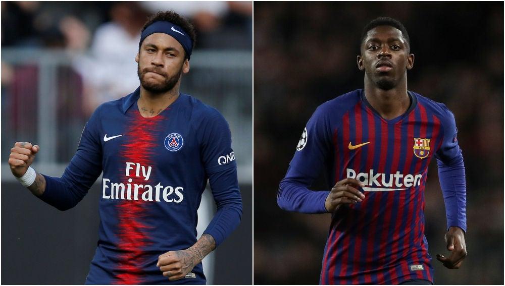 Neymar y Dembele
