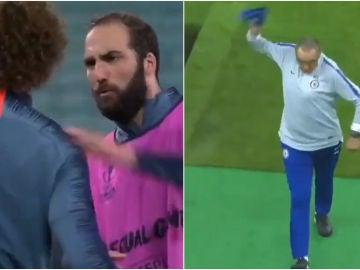 Pique entre Higuaín y David Luiz en el entrenamiento