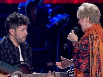 Pablo López toca la guitarra por bulerías para Loli Moreno en 'La Voz Senior'