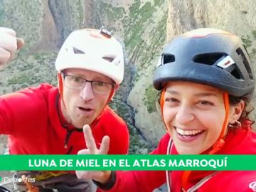 La luna de miel más original de Iker Pou y Neus Colom: escalando en el Atlas