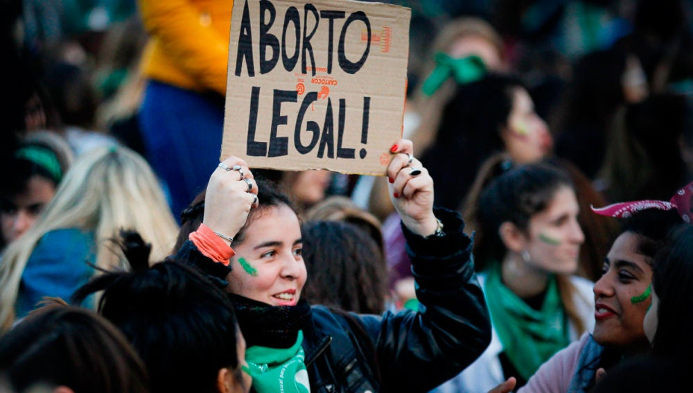Manifestación en Argentina a favor del aborto (Archivo)