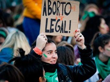 Manifestación en Argentina a favor del aborto