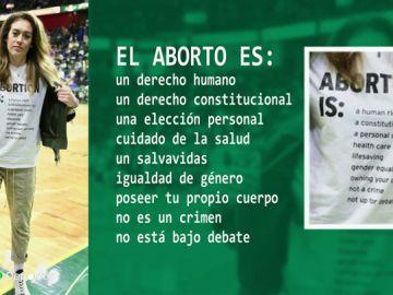 """La camiseta de la estrella de la NBA femenina causa revuelo: """"El aborto es un derecho humano"""""""