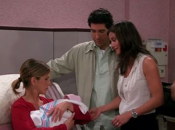 Jennifer Aniston, David Schwimmer y Courteney Cox en 'Friends'