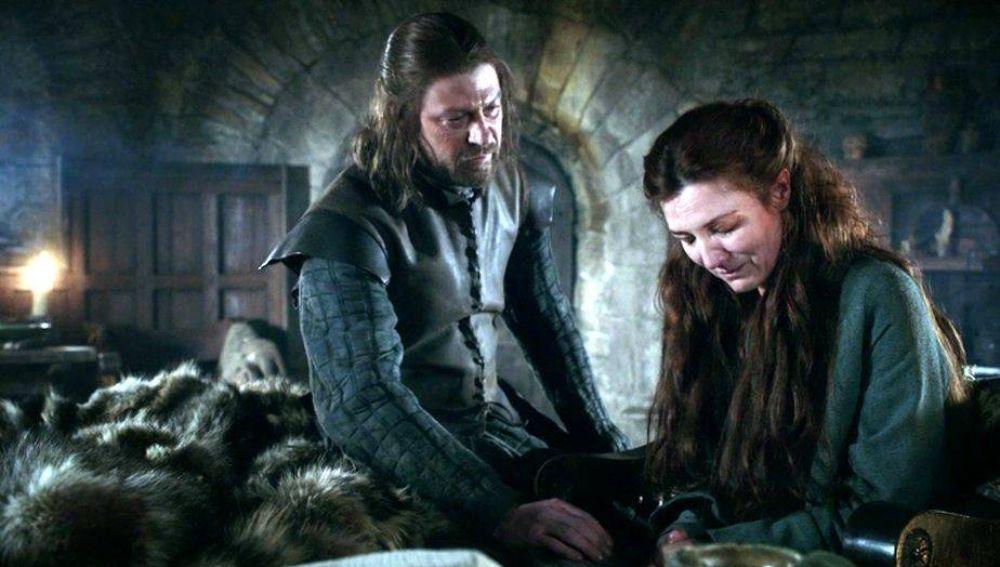 Ned y Catelyn Stark en 'Juego de Tronos'