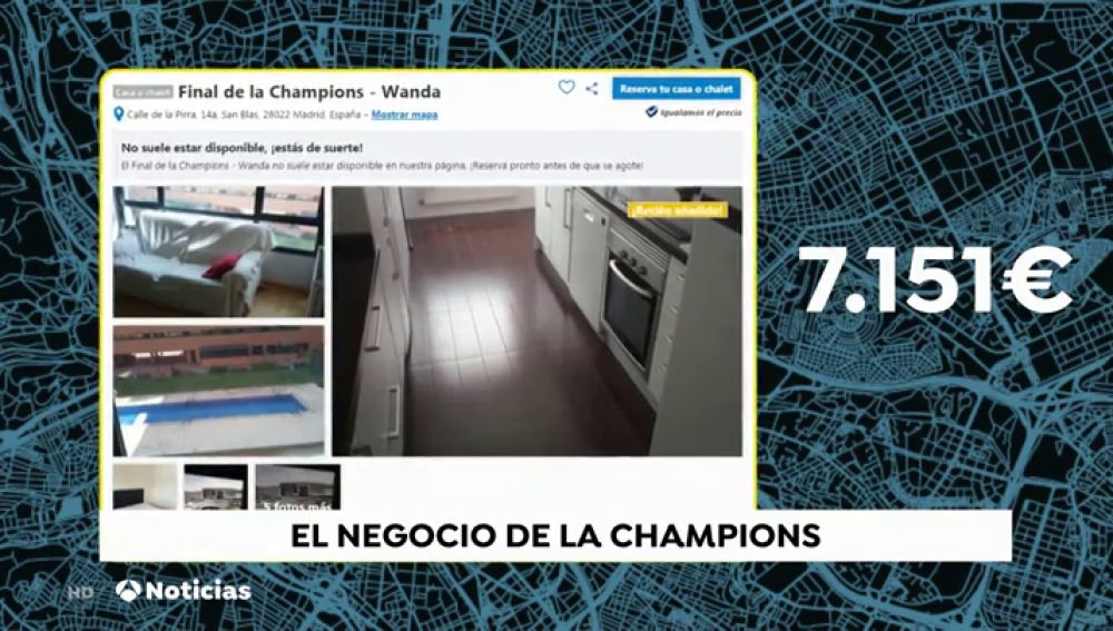 Los desorbitados precios de las habitaciones de hotel para la final de la Champions de Madrid: Hasta 7.000 euros por una habitación