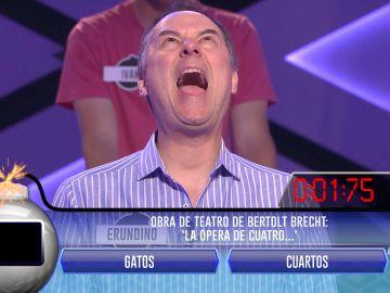 La sorprendente reacción de Erundino, del equipo de 'Los Lobos', en la Bomba Clasificatoria de '¡Boom!'