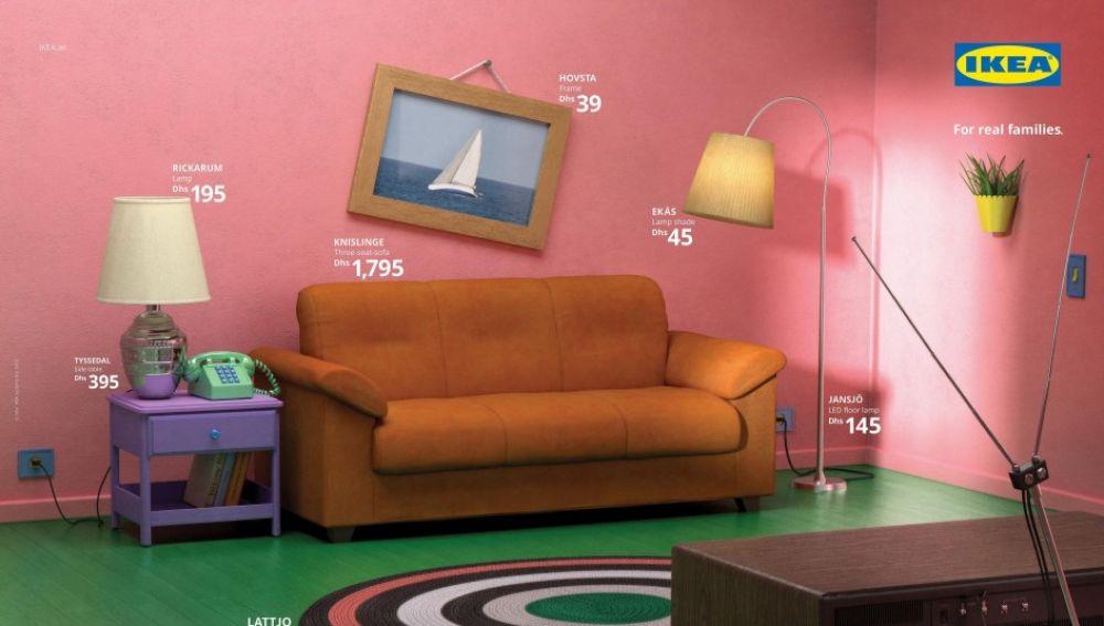 Salón de 'Los Simpsons' recreado por Ikea